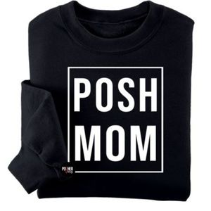 Posh Mom Crewneck Graphic Sweatshirt